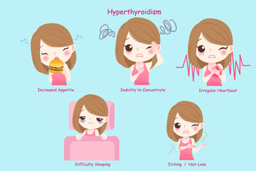 woman with hyperthyroidism
