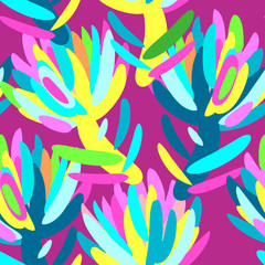Seamless summer tropical floral pattern