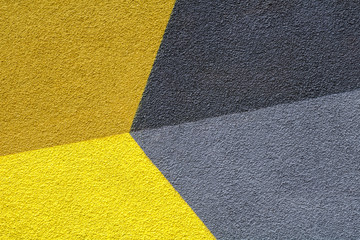 Abstract colorful composition on a wall.