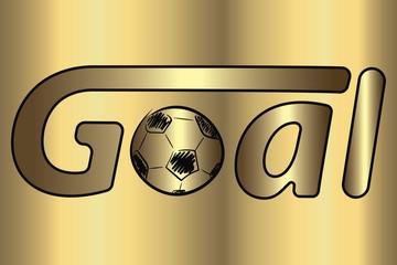 Gold gradient football
