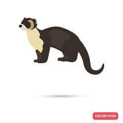 Marten color flat icon for web and mobile design