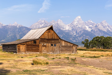 Mormon Row Barn in Grand Teton National Park, WY, USA