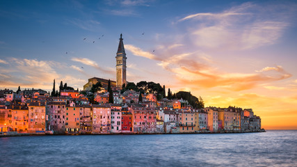 Sunset in Rovinj, Croatia