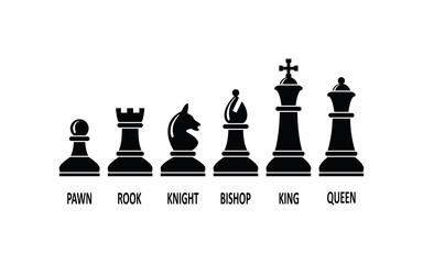 vector chess piece set
