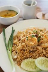 Thai Fried Rice with Shrimp Vegetables