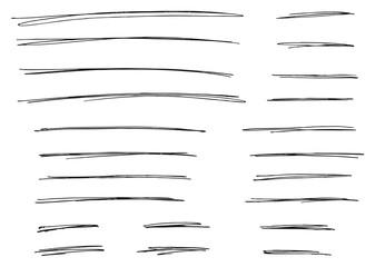 Pen Strokes Thin Line & Background Set 01