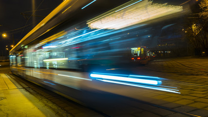 movement of trams on the tram circle