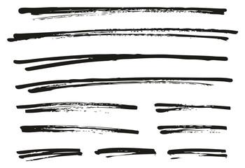 Pen Strokes Bold Grunge Line & Background Set 12