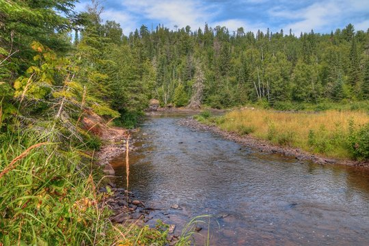 The Pigeon River flows through Grand Portage State Park and Indian Reservation. It is the Border between Ontario and Minnesota