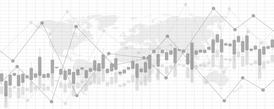 Financial data graph chart, vector illustration. Abstract background with graph chart finance. Business concept.