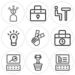 Set Of 9 simple editable icons such as Website, Winner, Website
