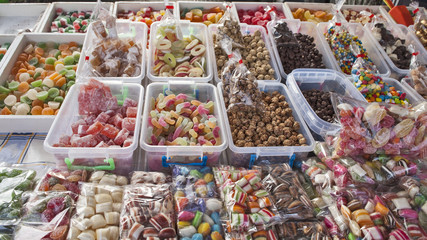 Various sweets and candies for sale