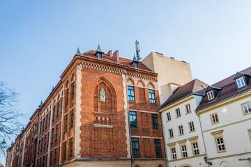 Dans le quartier Juif de Cracovie