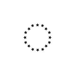 round stars icon. sign design