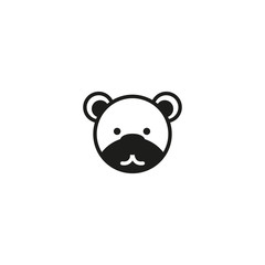 teddy bear face icon. sign design