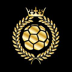 Soccer Wappen Gold