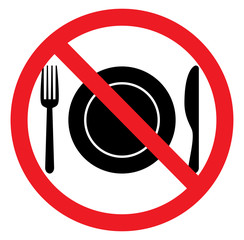 No food sign flat icon