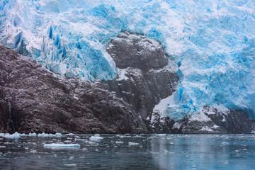 Printed kitchen splashbacks Glaciers Santa Ines glacier in the Strait of Magellan