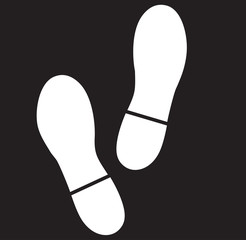 Foot sign flat icon