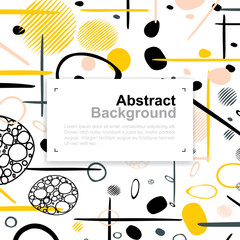 Abstract colorful pattern background for template design with area for copy space. Vector illustration.