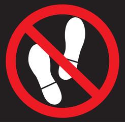 No foot icon