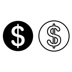 Dollar currency symbol icon
