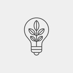 Biofuel flat vector icon. Bulb flat vector icon