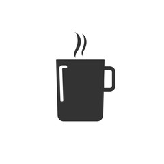 Coffee cup icon. Vector illustration.