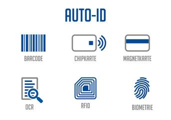 Icons Auto-ID Blau