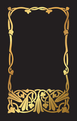 An Art Nouveau inspired floral design border and frame.