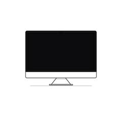 computer screen vector flat design