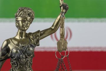 Human Rights Act and Justice Concept ,  Iranian - Persian Flag