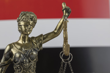 Human Rights Act and Justice Concept , Yemen Flag