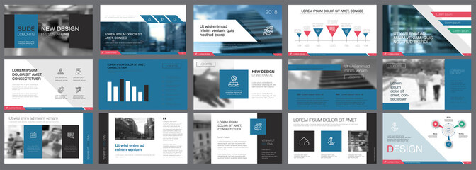 Black and blue training or planning concept infographics set