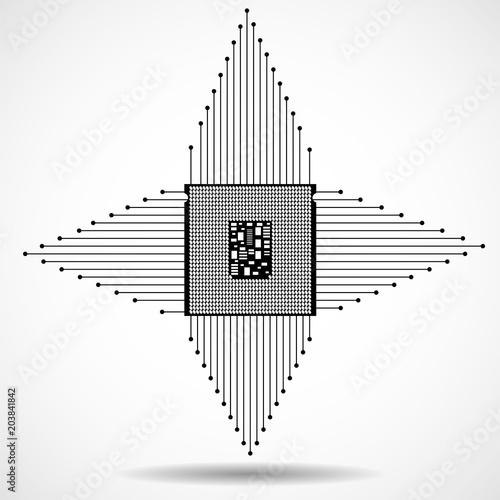 Cpu  Microprocessor  Microchip  Technology symbol  Vector