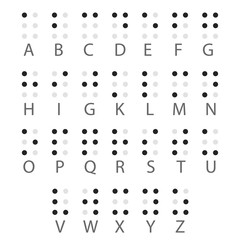 English Braille alphabet letters. Vector