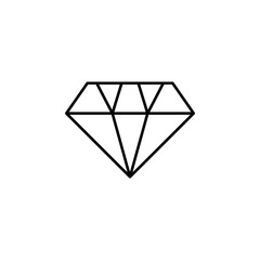 diamond icon. Element of wedding for mobile concept and web apps illustration. Thin line icon for website design and development, app development. Premium icon