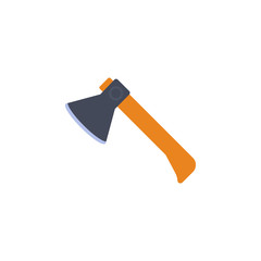 colored ax illustration. Element of construction tools for mobile concept and web apps. Detailed ax illustration can be used for web and mobile. Premium icon