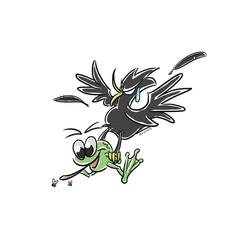 Pássaro e sapo
