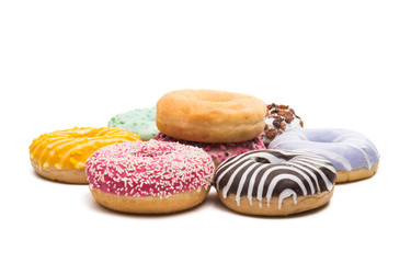 donuts in glaze isolated