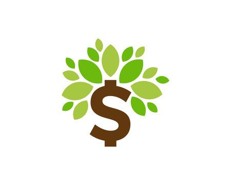 Money Tree Icon Logo Design Element