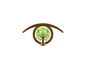 Tree Eye Icon Logo Design Element