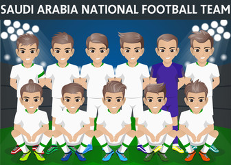 Saudi Arabia National Football Team for International Tournament