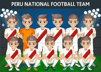 Peru National Football Team for International Tournament
