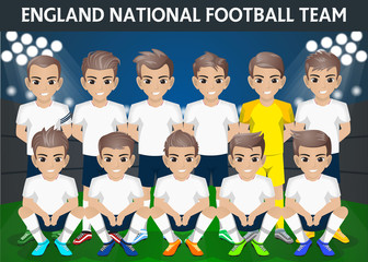 England National Football Team for International Tournament