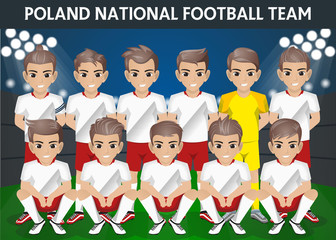 Poland National Football Team for International Tournament