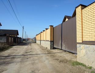 Brick fence.
