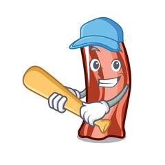 Playing baseballPlaying baseball ribs character cartoon style