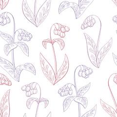 Comfrey flower graphic color seamless pattern background sketch illustration vector