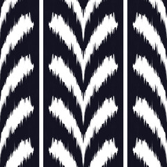 Ikat seamless pattern  as cloth, curtain, textile design, wallpaper, surface texture background